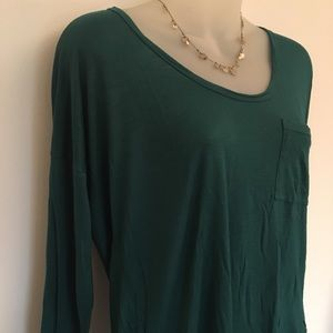 Madewell Green Long Sleeved T-Shirt with Pocket~XS